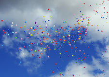 De vliegende ballons stock fotografie