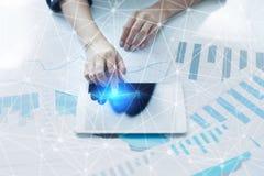 De vliegende 3D achtergrond van het netwerkgebied Bedrijfstechnologie en Internet-concept Royalty-vrije Stock Afbeelding
