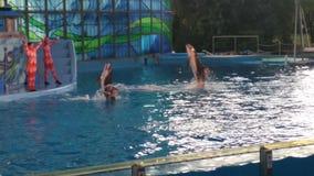 De vliegende Dolfijn van de Flessenneus bij Water toont Royalty-vrije Stock Fotografie