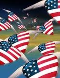 De vliegende Harten van de V.S. royalty-vrije stock afbeelding