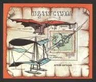 De vliegende man, schets door Leonardo da Vinci royalty-vrije stock fotografie