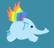De vliegende olifant. Royalty-vrije Stock Foto