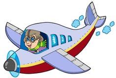 De vliegenier van het beeldverhaal vector illustratie