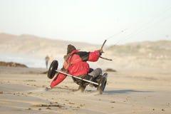 De Vlieger Buggying van het strand Stock Foto's