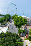 De Vlieger Ferris Wheel van Singapore Stock Afbeelding