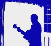 De Vlieger van de Affiche van de Muziek van de Gitaar van Grunge Royalty-vrije Stock Afbeeldingen