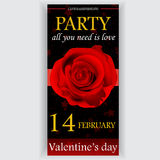De vlieger van de de dagpartij van Valentine Stock Fotografie