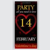 De vlieger van de de dagpartij van Valentine Royalty-vrije Stock Foto's