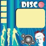 De vlieger van de disco met clubmeisjes Stock Afbeelding