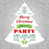 De vlieger van de Kerstmisvakantie of de Vector abstracte achtergrond van het afficheontwerp Stock Foto
