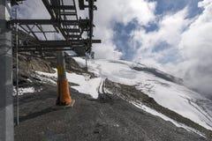 De Vlieger van het stoeltjesliftijs, zet Titlis op Royalty-vrije Stock Afbeelding