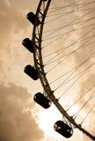 De Vlieger van Singapore bij zonsondergang stock afbeelding