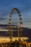 De Vlieger van Singapore bij zonsopgang Royalty-vrije Stock Foto