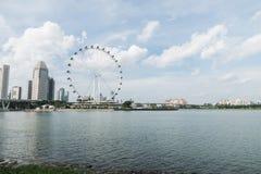 De Vlieger van Singapore het reuzeferriswiel in Singapore stock fotografie