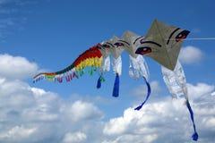 De vliegerfestival van Thailand stock afbeelding