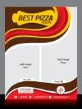 De Vliegermalplaatje van de pizzaopslag Stock Fotografie