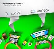 De vliegerontwerp van de origami Vlak stijl of Brochuremalplaatje voor uw bedrijfsproject Stock Fotografie
