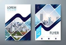 De vliegerontwerp van de jaarverslagbrochure, Pamfletpresentatie, de malplaatjes van de boekdekking, lay-out in A4-grootte Vector royalty-vrije illustratie