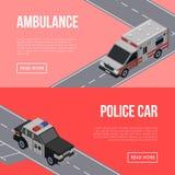 De vliegers van het stadsverkeer met auto's in weg vector illustratie