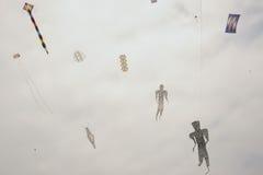 De vliegers van het vliegerfestival Stock Afbeeldingen