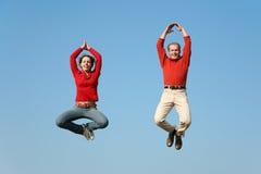 De vliegpaar van de yoga Royalty-vrije Stock Fotografie