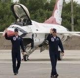 De vliegtuigbemanning van Thunderbirds Royalty-vrije Stock Foto