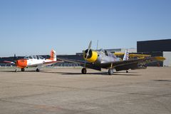 De vliegtuigen in CAF WO.II AIR TONEN Dallas Executive Airport royalty-vrije stock foto