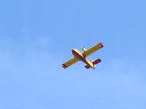 De vliegtuigen dovende brand Royalty-vrije Stock Afbeeldingen