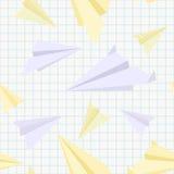 De vliegtuigen naadloze textuur van het document Stock Afbeeldingen