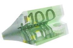 de vliegtuigen van 100 euro Stock Fotografie