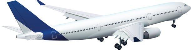 De vliegtuigen van de luchtbus A330 het landen Stock Foto's