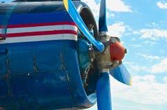 De vliegtuigen van de schroefmotor Stock Foto's