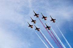 De vliegtuigen van de vechter in airshow royalty-vrije stock fotografie