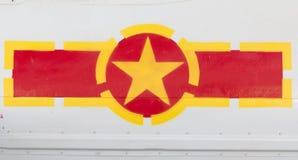 De Vliegtuigen van het de Vlagsymbool van Vietnam stock foto