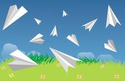 De vliegtuigen van het document Stock Afbeelding