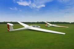 De vliegtuigen van het zweefvliegtuig Stock Foto's