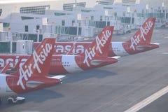 De vliegtuigen van luchtazië stock fotografie