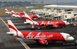 De vliegtuigen van luchtazië Royalty-vrije Stock Afbeeldingen