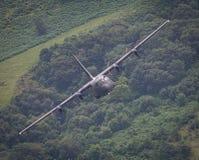 De vliegtuigen van R.A.F. C130 Hercules Stock Afbeelding
