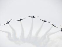 De Vliegtuigen van Tucanos Stock Foto's