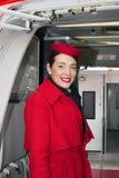 De vliegtuigencabinepersoneel van Ernest Airlines Airbus A320-200 Stock Afbeeldingen