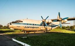 De vliegtuigententoonstelling van Aeroflot in Kryvyi Rih stock afbeeldingen