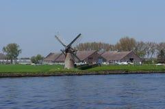De Vliet,运河在荷兰 免版税库存照片