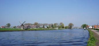 De Vliet,运河在荷兰 库存照片
