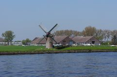 DE Vliet, kanaal in Nederland Royalty-vrije Stock Foto