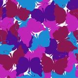 De vlinder kleurde naadloos vectorpatroon royalty-vrije illustratie