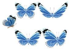 De vlinder met kleurenvleugels. Vector. Royalty-vrije Stock Afbeelding