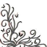 De vlinder van Backgrond witn royalty-vrije illustratie