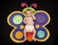 De Vlinder van de baby Royalty-vrije Stock Afbeeldingen