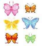 De vlinder van de kleur Stock Fotografie